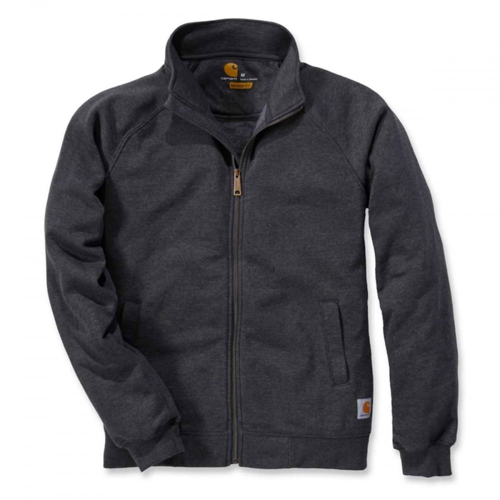Vêtements pour homme Carhartt Sweat Midweight Mock Neck Zip Front Sweat Charcoal