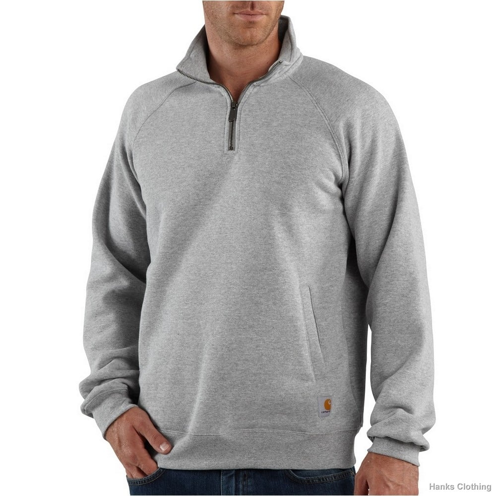 Carhartt Sweatshirt Quarter Zip Mock-Neck