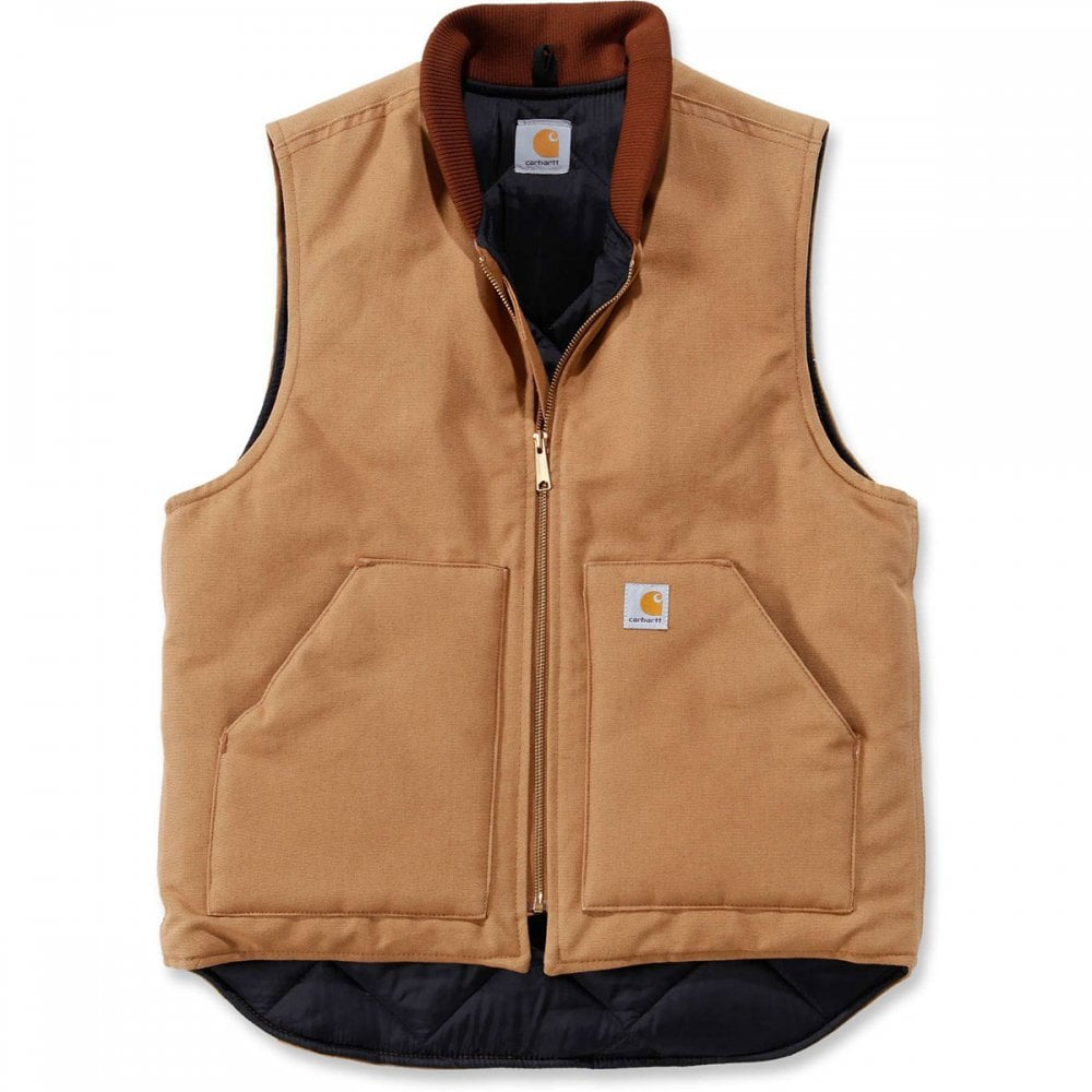 31f24763b3 Carhartt Workwear V01 Leisure Quilted Mens Zip Arctic Vest Jacket Top