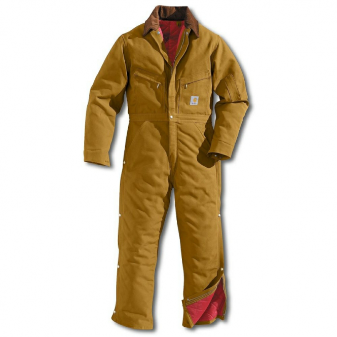 Carhartt X01 Mens Ankle-To-Waist Duck Work Wear Quilt-Lined Coverall