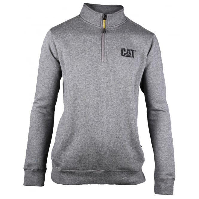 Caterpillar Canyon 1/4 Zip Sweatshirt Dark Heather Grey - Size: L *One Size Only - Outlet Store*