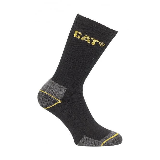 Caterpillar Crew Work Sock 3 Pack Size 6-11