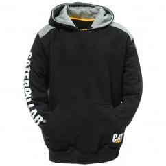 Logo Panel Hooded Sweatshirt Black - Size: L *One Size Only - Outlet Store*