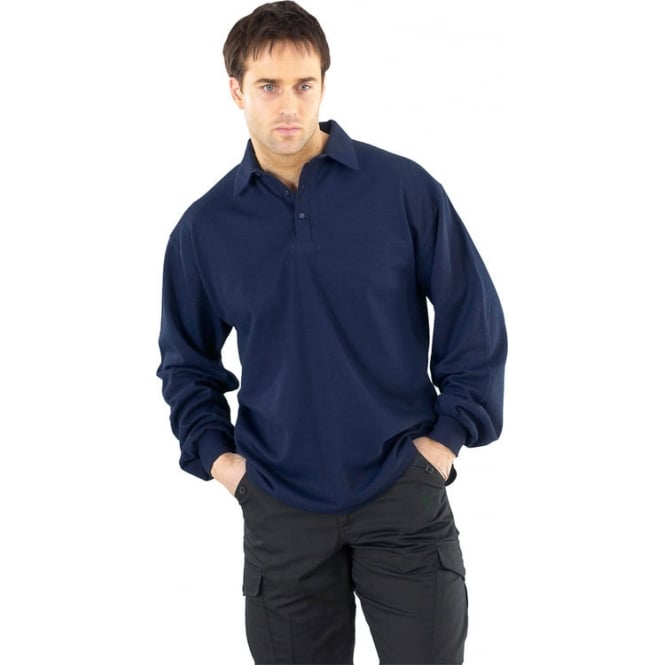 Click Fireretardant Flame Retardant Long Sleeve Polo Shirt
