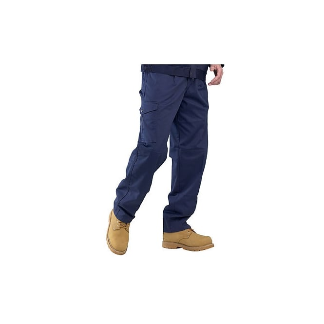 Click Heavyweight Super Polycotton 9Oz Trousers - Navy Inside Leg: 31