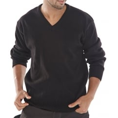 Acrylic Sweatshirt V Neck