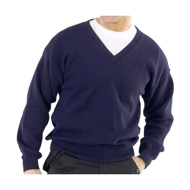Click Workwear Acrylic Sweatshirt V Neck