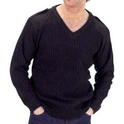 Acrylic V Neck Security Jumper c/w Epaulettes
