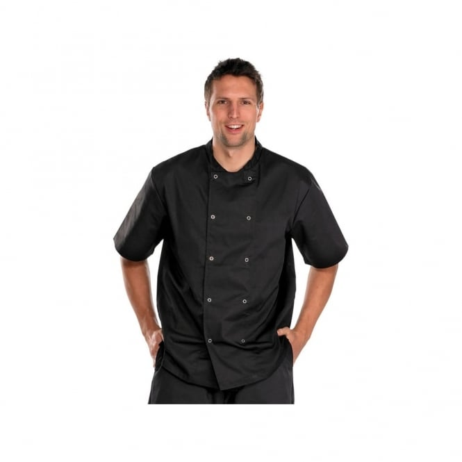 Click Workwear Chefs Jacket Short Sleeve Black - Size: M *One Size Only - Outlet Store*