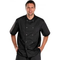 Chefs Jacket Short Sleeve Black - Size: XL *One Size Only - Outlet Store*