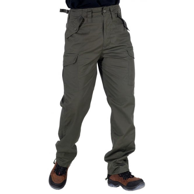 Click Workwear Polycotton Combat Trousers - Olive Inside Leg: 31
