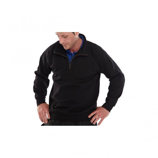 Click Workwear Quarter Zip Sweatshirt Navy - Size: XL *One Size Only - Outlet Store*
