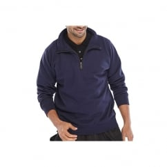 Quarter Zip Sweatshirt Navy - Size: XL *One Size Only - Outlet Store*