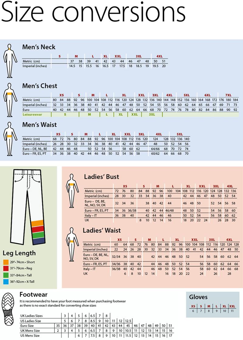 yksityiskohtaisesti paras asenne tehdasmyymälät Size Conversion Chart