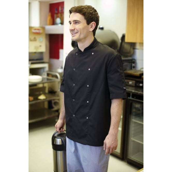 Dennys DD08SAFD AFD Chef's Jacket Black - Size: S *One Size Only - Outlet Store*
