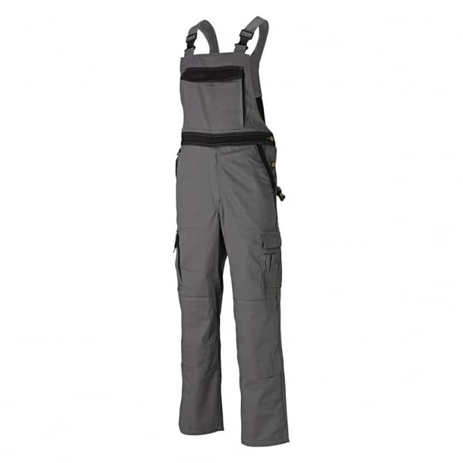 Dickies Workwear Industry 300 Two Tone Work Bib & Brace Grey/Black Waist: 38