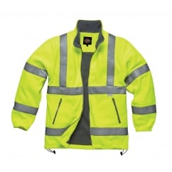 SA22032 Hi-Vis Fleece Jacket Coat Yellow Size: L *One Size Only - Outlet Store*