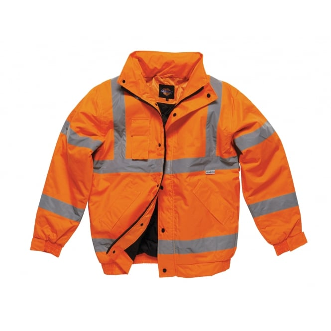 Dickies Workwear SA22050 Hi-Vis Bomber Jacket Coat
