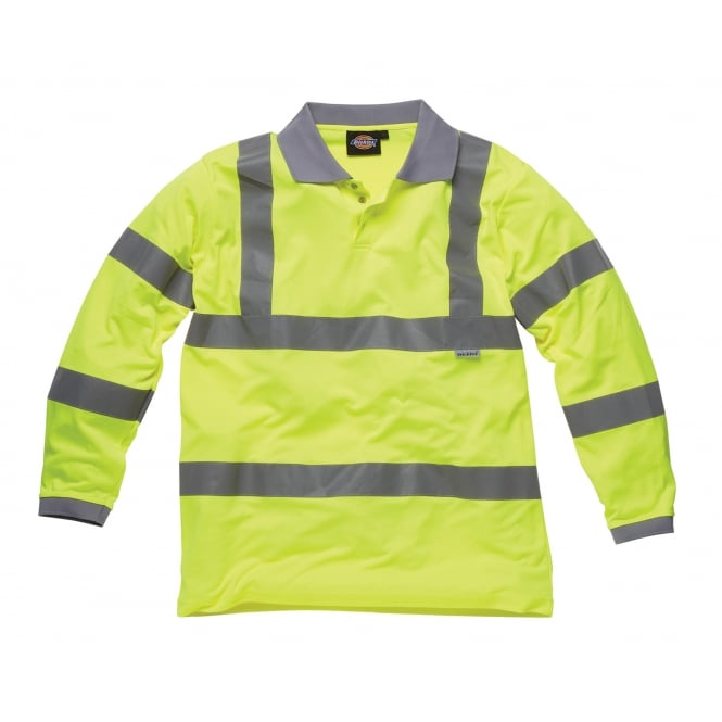 Dickies Workwear SA22077 Hi Vis Long Sleeve Polo Shirt