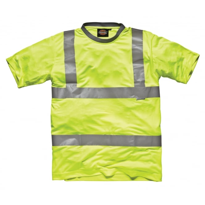 Dickies Workwear SA22080 Hi Visibility T Shirt Top + Tape