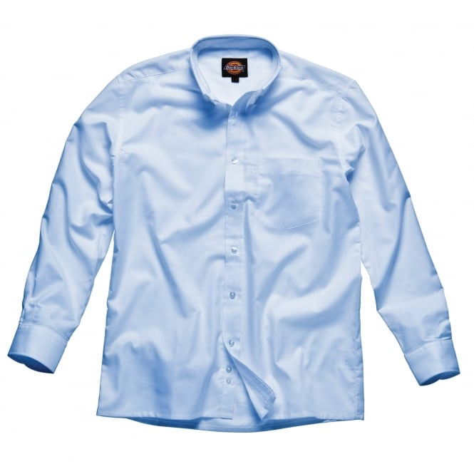 Dickies Workwear SH64200 Oxford Weave Long Sleeve Blue Size: 17 *One Size Only - Outlet Store*