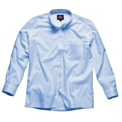 SH64200 Oxford Weave Long Sleeve Blue Size: 17 *One Size Only - Outlet Store*