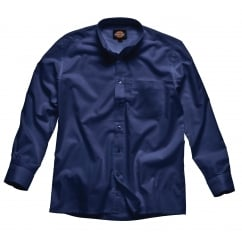SH64200 Oxford Weave Long Sleeve Navy Blue Size: 18 *One Size Only - Outlet Store*