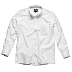 SH64200 Oxford Weave Long Sleeve White Size: 18 *One Size Only - Outlet Store*