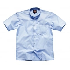 SH64250 Oxford Weave S/S Blue Size: 17 *One Size Only - Outlet Store*