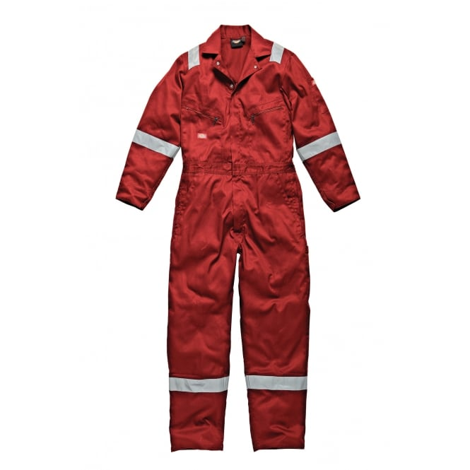 Dickies Workwear WD2279LW Cotton Coverall Boilersuit Lightweight Red Size: L *One Size Only - Outlet Store*