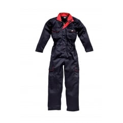 WD4839W Ladies Redhawk Coverall Boilersuit Navy/Red Size: 12 *One Size Only - Outlet Store*