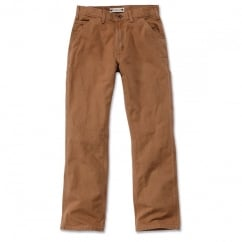 Eb011 Washed Duck Work Pant Carhartt Brown - Inside Leg: 32