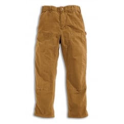 EB136 Double Front Work Pant, Carhartt Brown, Inside Leg: 32
