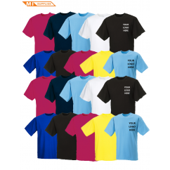 Embroidery Pack: 20 T Shirts Including Logo
