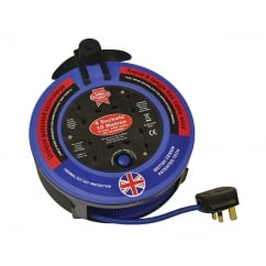 Pro Cable Reel 240V 10 Metre 10A 4 Socket Cut Out