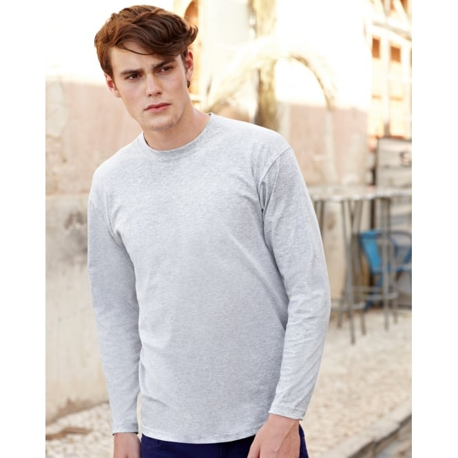 Fruit Of The Loom 61038 Valueweight Long Sleeve T-Shirt