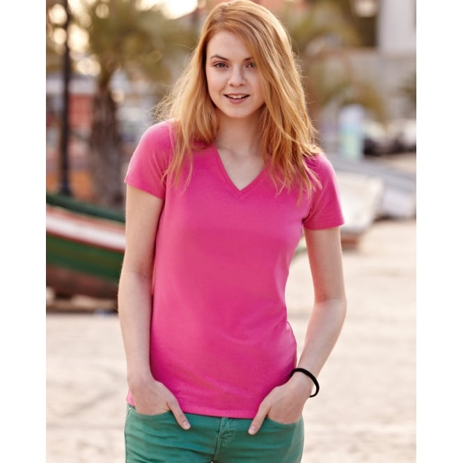 Fruit Of The Loom 61382 Lady-Fit V-Neck T-Shirt
