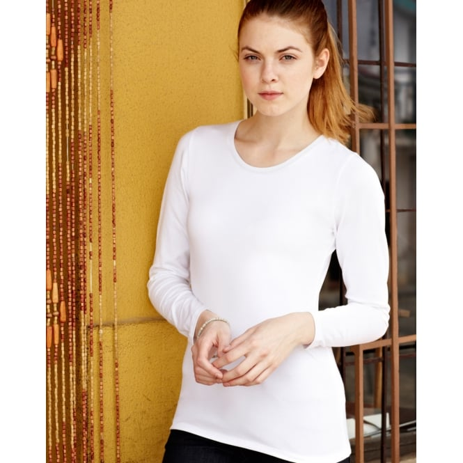 Fruit Of The Loom 61384 Lady-Fit Long Sleeve Crew Neck T-Shirt