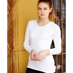 61384 Lady-Fit Long Sleeve Crew Neck T-Shirt