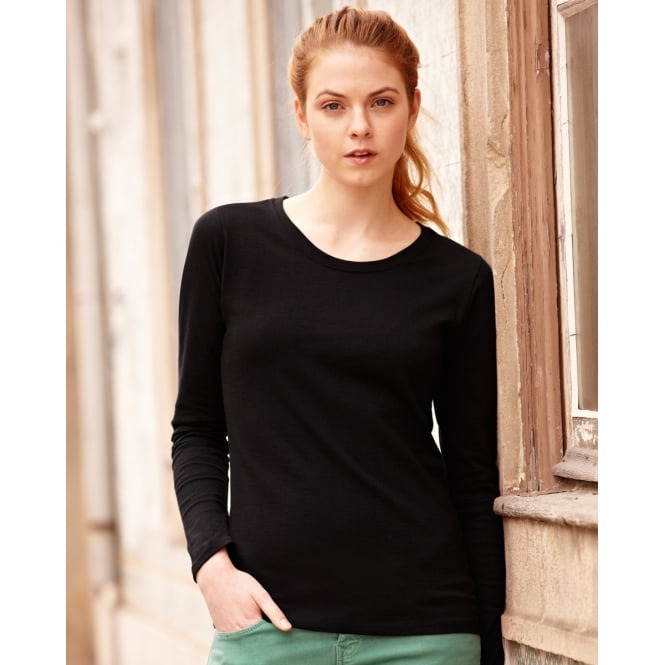 Fruit Of The Loom 61404 Lady-Fit Valueweight Long Sleeve T-Shirt