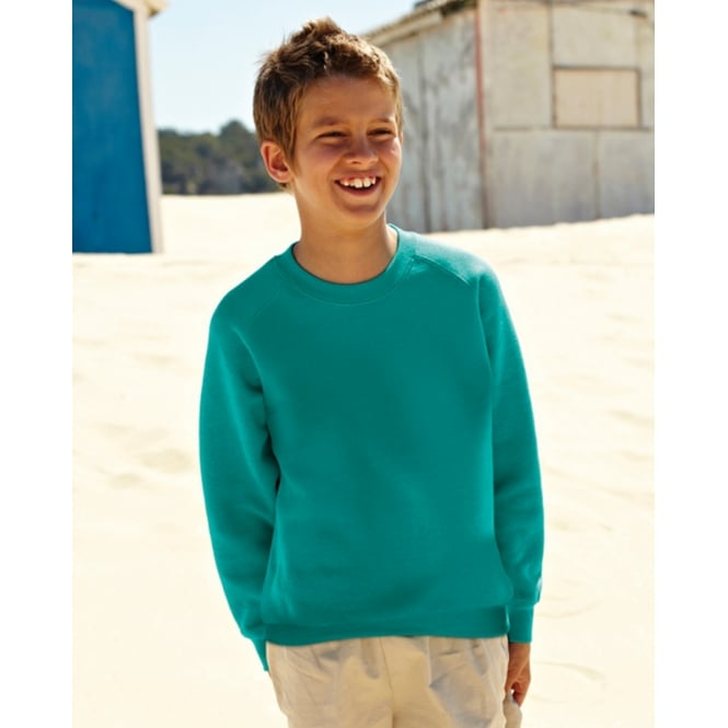 Fruit Of The Loom 62033 Childrens Raglan Sleeve Sweatshirt
