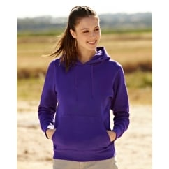 62038 Lady Fit Hooded Sweat
