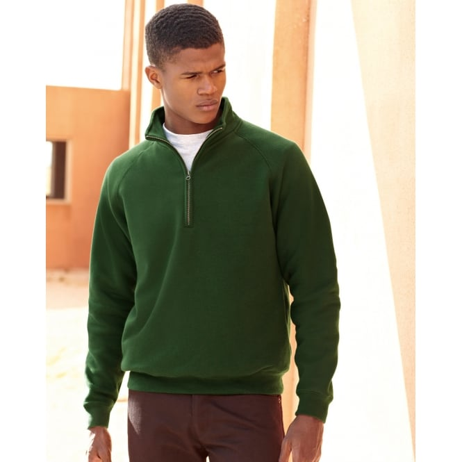 Fruit Of The Loom 62114 Zip Neck Sweat