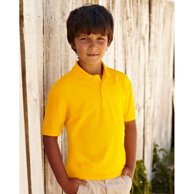 Fruit Of The Loom 63417 Children's 65/35 Pique Polo