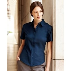 65000 Lady-Fit Short Sleeve Oxford Shirt