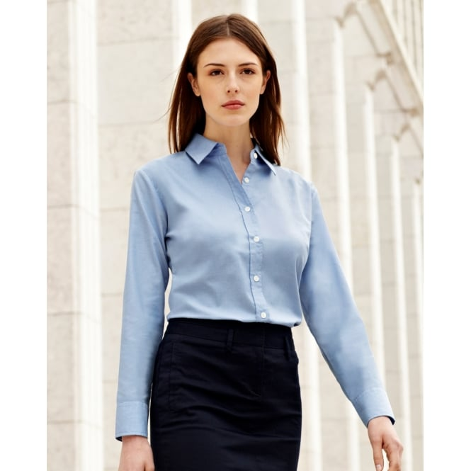Fruit Of The Loom 65002 Lady-Fit Long Sleeve Oxford Shirt