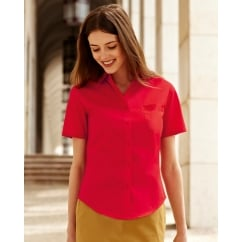 65014 Lady-Fit Short Sleeve Poplin Shirt