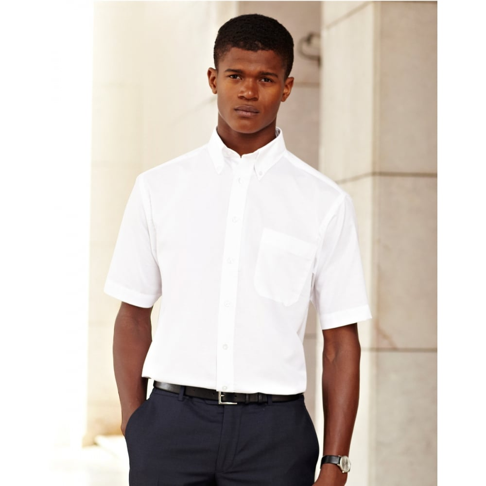 Fruit of the loom 65112 men 39 s short sleeve oxford shirt for Mens short sleeve oxford shirt
