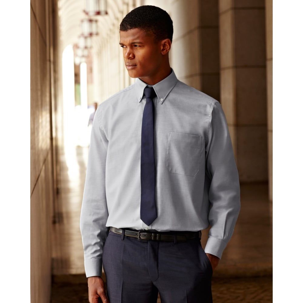 Fruit Of The Loom 65114 Men S Long Sleeve Oxford Shirt Clothing