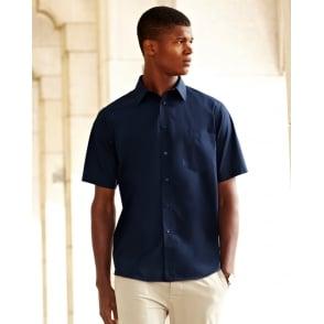 Fruit of the Loom Mens Poplin Short Sleeve Shirt